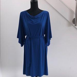 Dresses & Skirts - Blue cold-shoulder dress